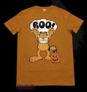 New Garfield Boo Halloween Mens Vintage Throwback T Shirt Ebay