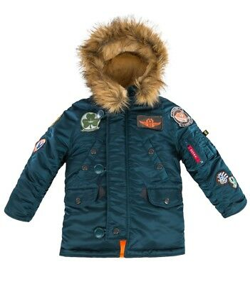 Alpha Industries Kids N-3B Maverick Flight Parka Navy  YJN46610C1 Youth
