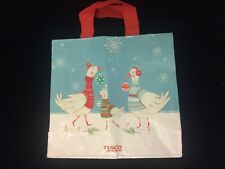 Tesco Star Christmas Goose Tote Bag 2016 UK Holiday Sweater Ornament Ski Jumper