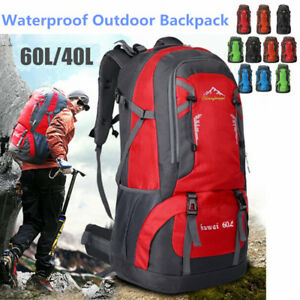 Details about 40L 60L Waterproof Outdoor Backpack Athletic Sport School Travel  Rucksack Bag US 3b545df8a81e1