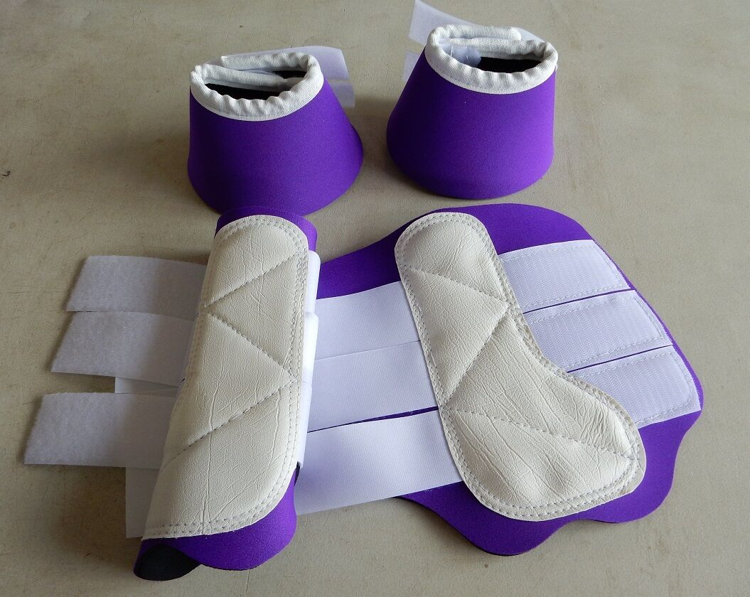 Horse 1 pair Exercise Boots &  1 pair Bell Boots Your choice of colour and Size  welcome to choose