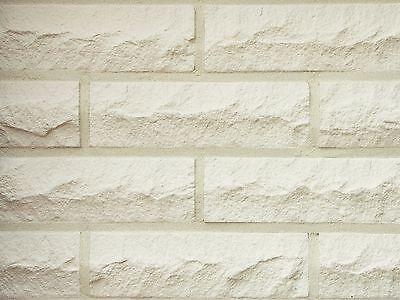 Klinker Baustoffe & Holz Obligatorisch Kalksandstein-verblender Nf Bh518 Weiß Bossierter Klinker Vormauersteine