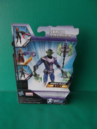 "Marvel Avengers SKRULL Soldier 3.75/""in Figurine Avec Double-Lame de hache!! 2011 Hasbro"