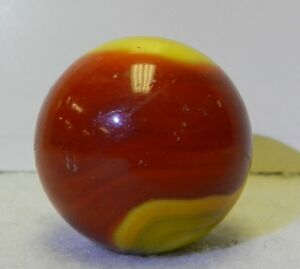 8961m Large 1 Inch Akro Agate 2 Color Corkscrew Shooter Vintage Marble