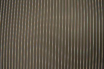 "WHITE PINSTRIPE BLACK STRETCH COTTON ELASTANE TWILL FABRIC MATERIAL 54"" WIDTH"