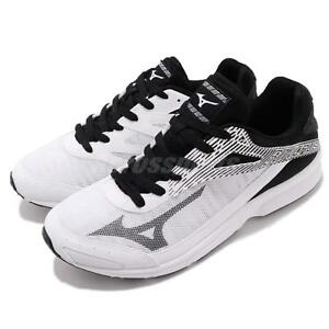 Mizuno Sonic Rush White Black Men Running Racing Shoes Trainers J1GA1883-09