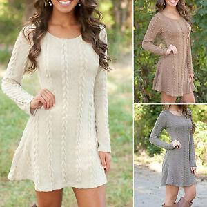 Sweater Over Skater Dress 119