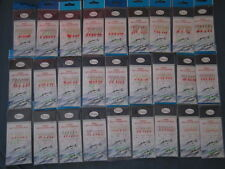 10 RODTEK Sabiki bait rigs sizes 1,2,4,6,8,10,12,14 YOU CHOOSE