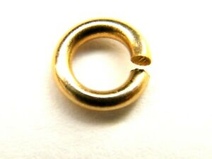 10x  9ct Yellow Gold 5mm Diameter Heavy Open Jump Rings Jewellery Making
