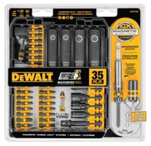 DEWALT FlexTorq 35-Piece Impact Driver Bit Set Dewalt Power Tool Accessories