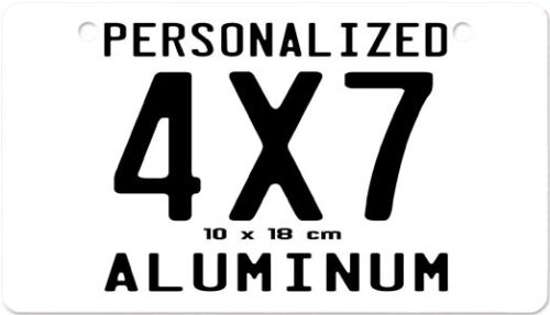 4x7  Motorcycle Moped Aluminum Personalized Custom Novelty License Plate