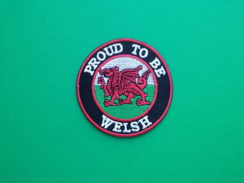 NOVELTY BIKER COUNTRY FLAG SEW ON IRON ON PATCH: WALES WELSH