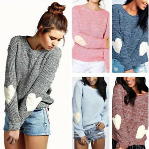 Women-Heart-Long-Sleeve-Knitted-Jumper-Sweater-Loose-Pullover-Tops-Coat-Knitwear