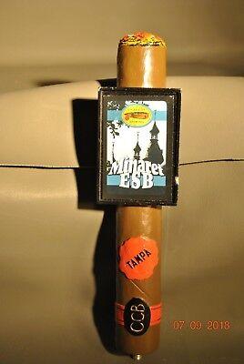 Cigar City Brewing Minaret Esb Cigar Beer Tap Handle Tampa Florida 10 Quot Tall Ccb Ebay