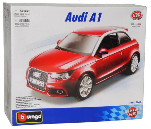 Audi A1 Rot 3 Türer Ab 2010 8X Bausatz Kit 1//24 Bburago Modell Auto mit oder o..