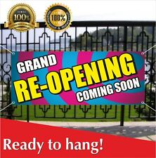 Grand Re Opening Coming Soon Banner Vinyl Mesh Banner Sign New Shop Many Sizes
