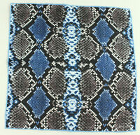 Jane Carr 100% Silk Made In Italy Navy The Python Pocket Square