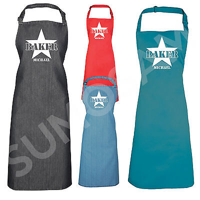 Star Design Baker Apron Cooks Mens Personalised Funny Novelty Gift Present