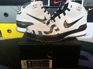1032faade06 Nike Air Zoom Max LeBron James VI 6 MVP Witness PE White Black Gold ...