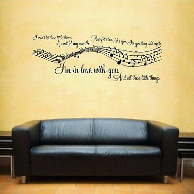 1 Direction 1D You and I music lyrics Lounge Bedroom Wall Art Sticker Decal