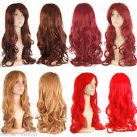 "28"" 70cm Hair Ladies Wig Long Wavy Curly Fancy Dress Party Full Cosplay Fashion"