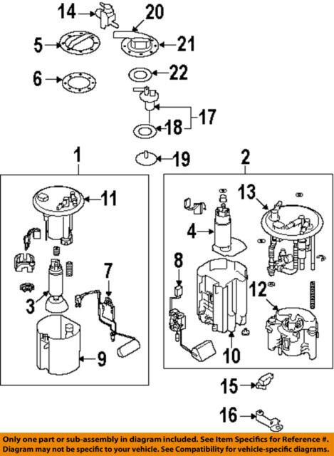 SUBARU OEM 09-13 Forester 2.5L-H4 Fuel Pump-Fuel Pump 42022AG190