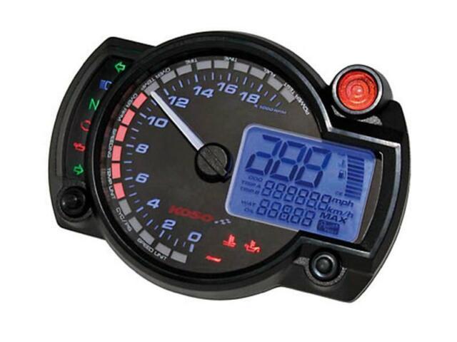 Tachometer KOSO RX2N Analog//Digital Blau 20.000RPM 360km//h