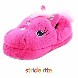 c0301373da3 Image is loading Stride-Rite-Little-Girls-Fuchsia-Magic-Pony-Slippers-