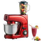 VonShef Stand Mixer Food Blender Meat Grinder Red 3 in 1 Smoothie Maker 1200w