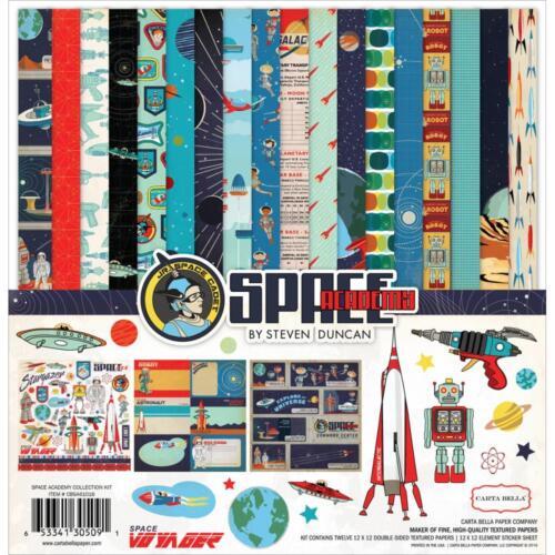 Space Academy Stargazer 12X12 Scrapbooking Kit Carta Bella Paper CBSA61016 New