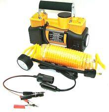 12v Twin Piston Mini Metal Air Pump Compressor Tire Inflator With Light Heavy Duty