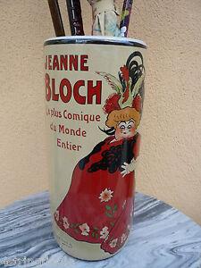 """Umbrella / Cane Holder """" Jeanne Bloch La Plus Comique Du Monde Entier """" - France"""