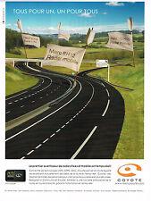 PUBLICITE ADVERTISING 094  2009   COYOTTE  avertisseur radars