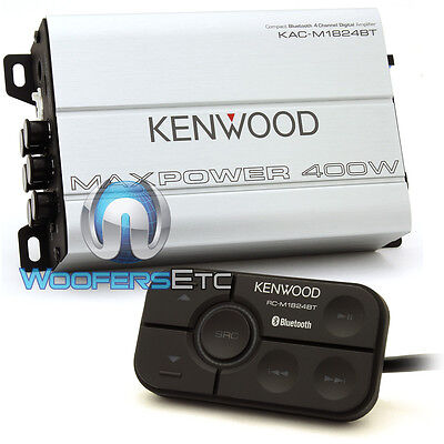 OPEN BOX KENWOOD KAC-M1824BT 4-CHANNEL BLUETOOTH BOAT MARINE TINY AMPLIFIER