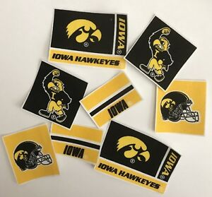 Iowa-Hawkeyes-8-Iron-On-Fabric-Appliques-Sports-Patches
