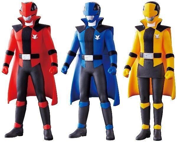 Bandai Lupinranger VS Pataranciar Hero Series Lupine giallo & blu & rosso 3 Sets