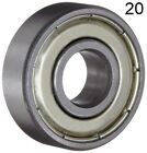 Twenty (20) 608ZZ 8x22x7 Shielded Greased Miniature Ball Bearings