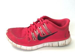 11059d592 Nike Free 5.0 Womens 6 M Running Shoes Red Black White Sneakers ...
