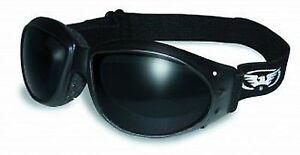 4eae69f8de2a3 Global Vision Eyewear Eliminator Goggles With Micro-fiber Pouch Super Dark  Lens