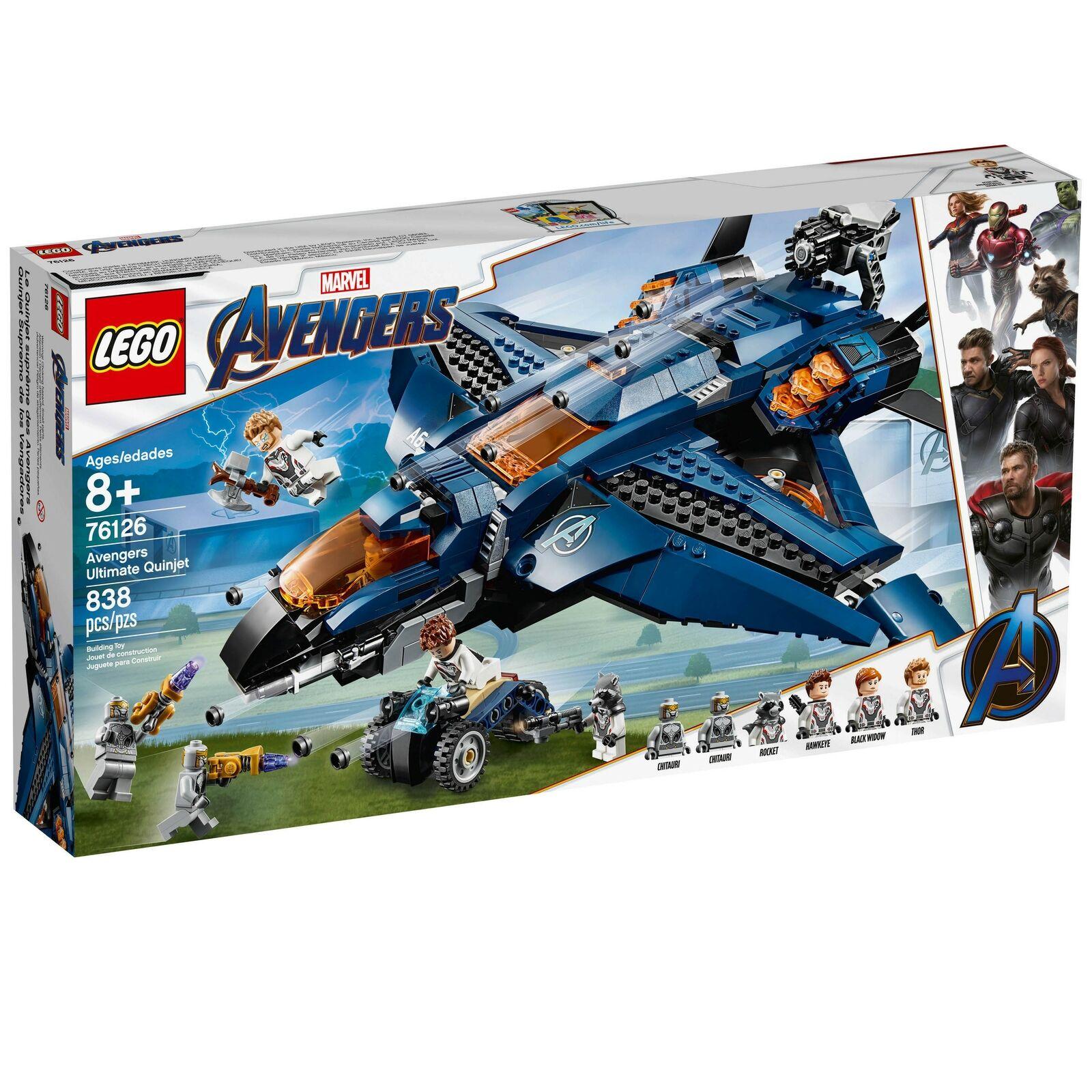 Lego Marvel Super Heroes Avengers Ultimate Quinjet Set   76126  expédition rapide
