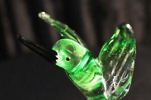 Murano-Italian-Art-Glass-Sculpture-or-Figure-Amazing-HUMMINGBIRD