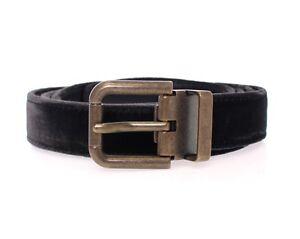 40 inch NWT $220 DOLCE /& GABBANA D/&G Brown Leather Logo Belt Cintura s 100 cm