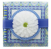 Hallmark Blue Femine Flat Memo Pad Set With Pen