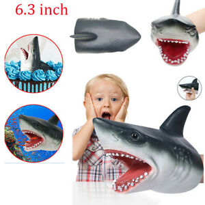Shark-Hand-Puppet-Soft-Kids-Toy-Great-Cake-Decoration-Topper-Jaws-Child-Gift-New