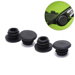 4pcs Bike Black Mini Rubber Grip Handlebar Bar End Plugs Stoppers Caps SG