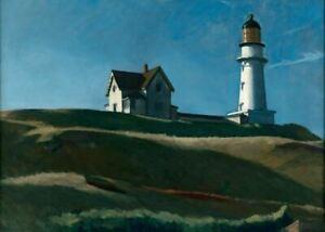 Poster Affiche Lighthouse Hill Edward Hopper Peinture Realisme Amerique Ebay