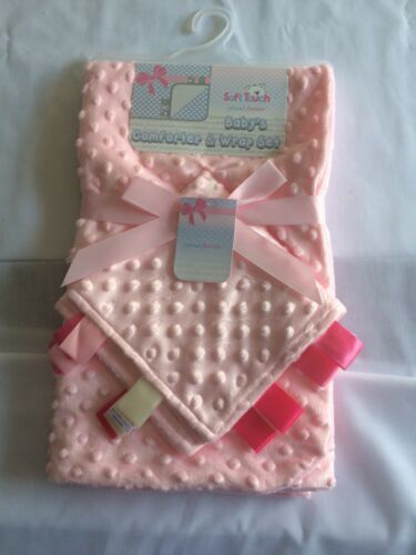 Soft Touch Bubble Wrap And Matching Comforter PINK OR LIGHT GREY