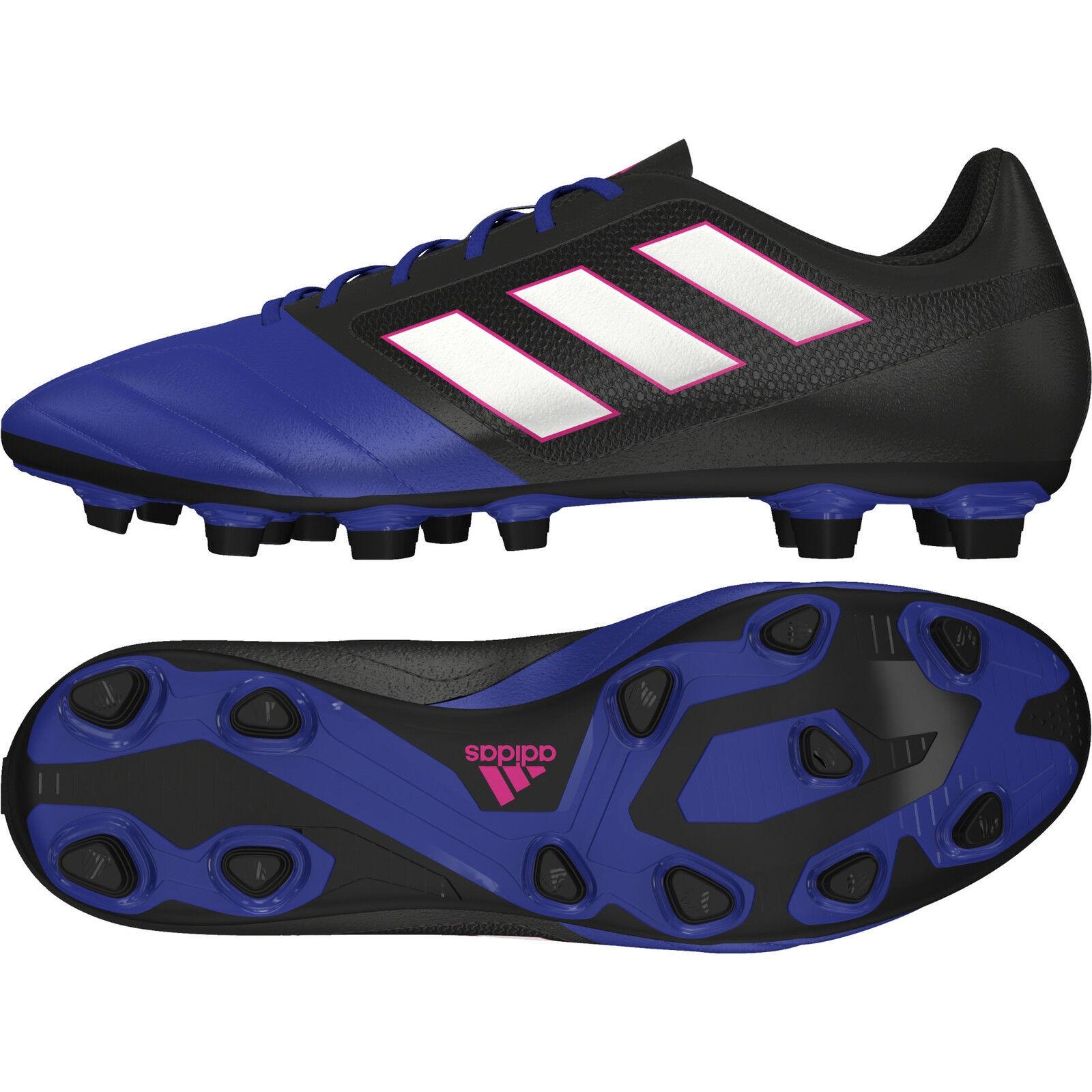 Adidas Ace 17.4 FXG BA9688 scarpa da calcio calcetto UOMO Col. Royal Nero NEW