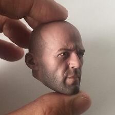 █ Custom Jason Statham 1/6 Head Sculpt for Hot Toys Muscular Body Headplay █