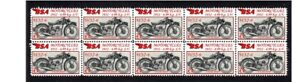 BSA-MOTORCYCLES-STRIP-OF-10-MINT-VIGNETTE-STAMPS-1932-W32-6